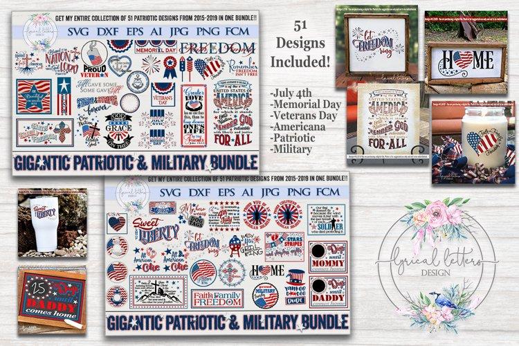 Gigantic Patriotic and Military Bundle of 51 SVG Cut Files