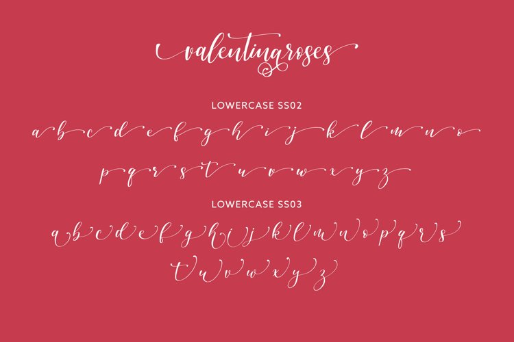 Valentinaroses Lovely Script Font example 5