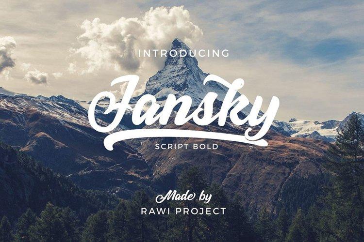Jansky Casual Script example image 1