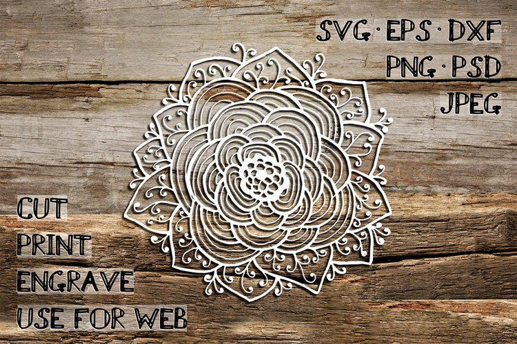 Mandala Template | SVG DXF EPS PSD PNG JPEG