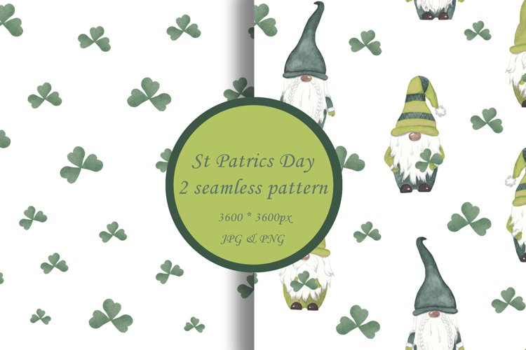 St Patrics day gnome seamless pattern Gnome digital paper