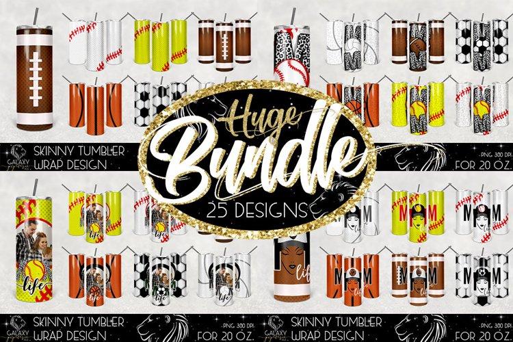 Huge Bundle 20 Oz. Skinny Tumbler Wrap Sublimation Design