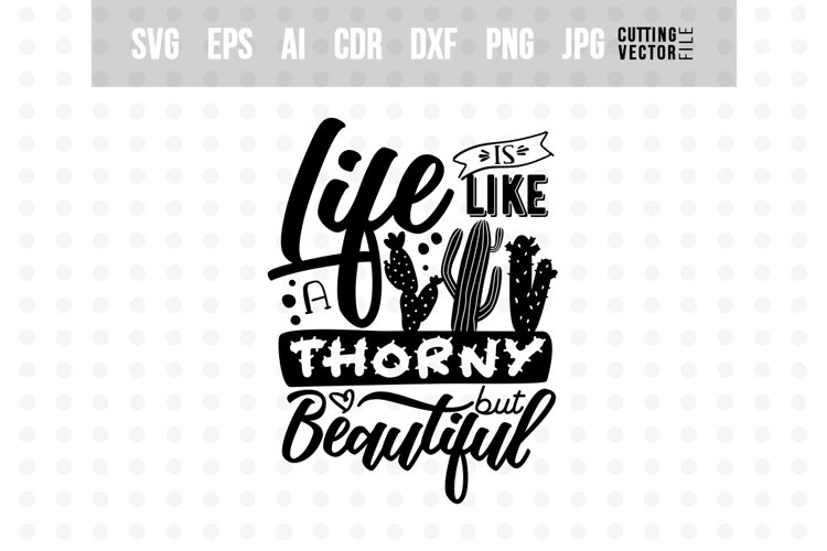 Life is like a cactus... - Vector Typography Design example image 1