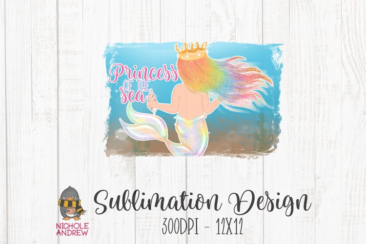 Princess Of The Sea Sublimation Design example image 1