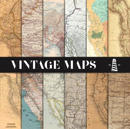 Vintage Maps Backgrounds example image 1