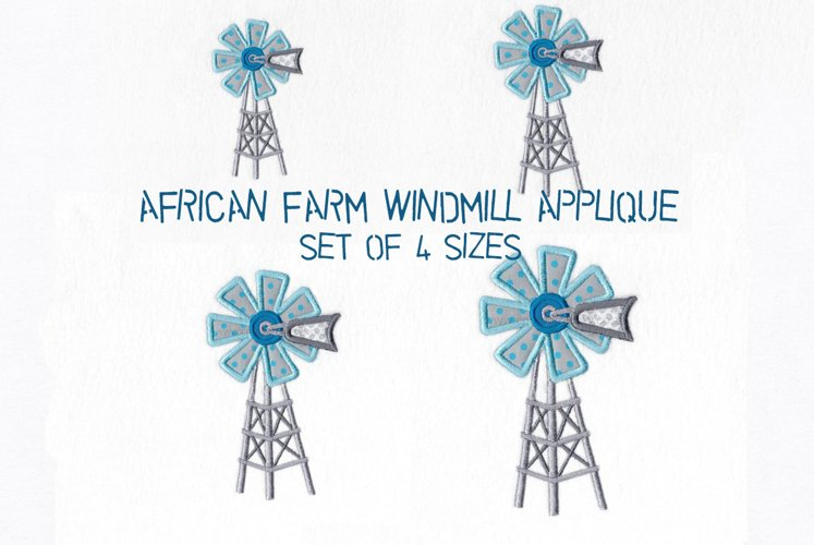 African Windmill Appliqué Machine Embroidery Download