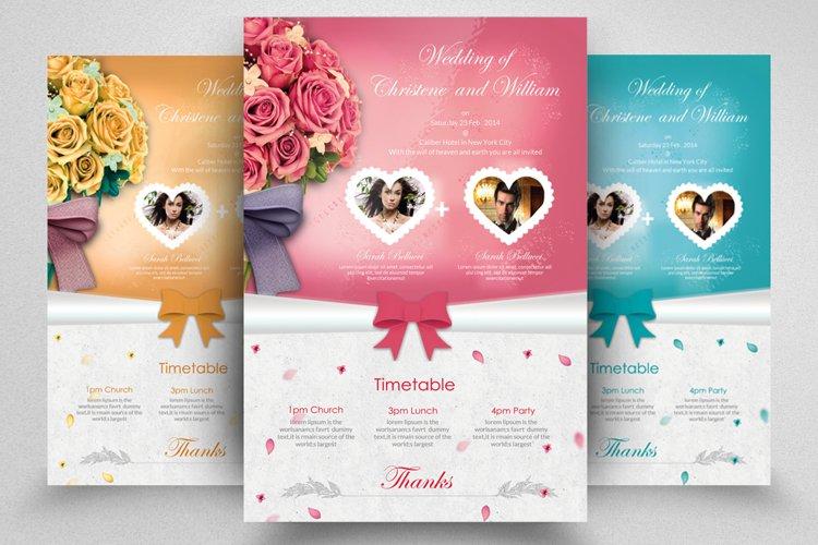 Floral Wedding Invitation Postcard example image 1