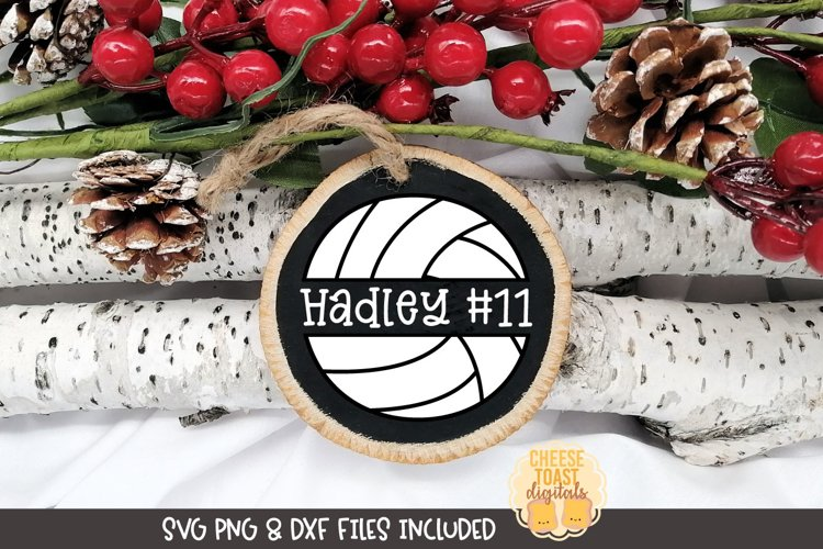 Sports Christmas Ornament SVG | Volleyball