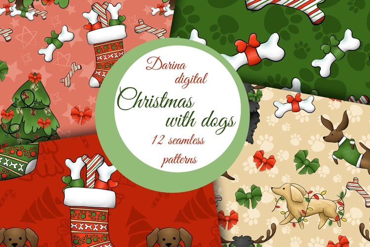 Cute Christmas dogs patterns