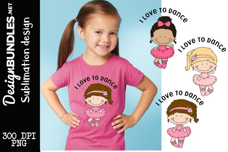 I Love to Dance Sublimation Design example image 1