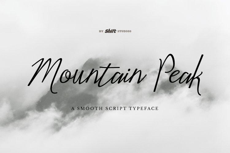 Mountain Peak Typeface