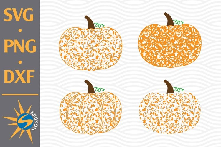 Swirl Pumpkin SVG, PNG, DXF Digital Files Include example image 1