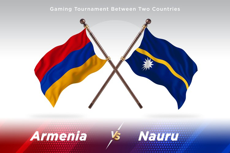 Armenia versus Nauru Two Flags example image 1