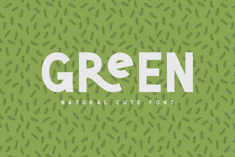 Green | Natural Cute Font example image 1