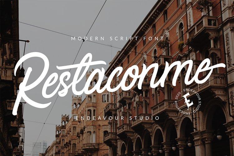 Restaconme Modern Script Font