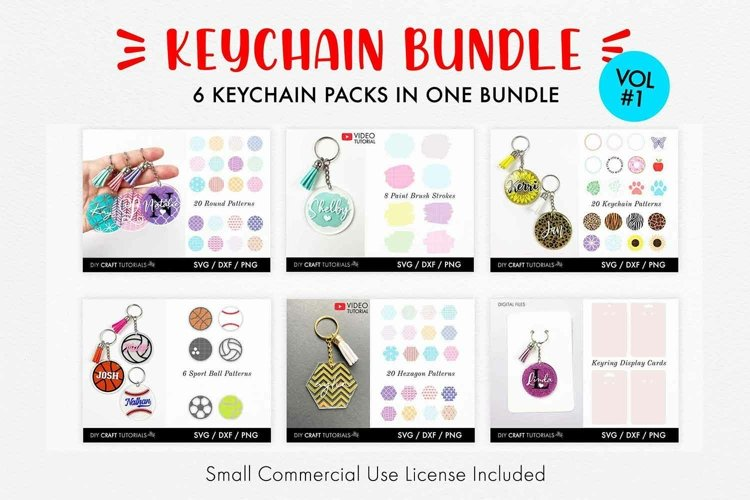 Keychain Pattern Bundle, Keychain Pattern SVG - Vol 1