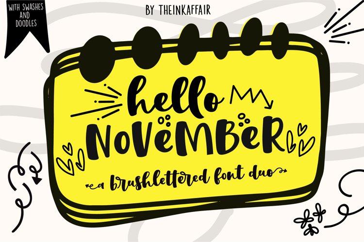 Hello November | Script and Sans font duo