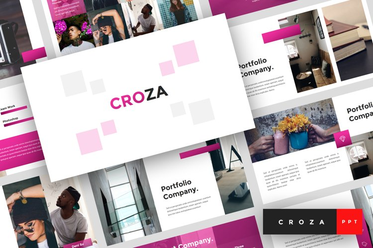Croza - Creative PowerPoint Template example image 1