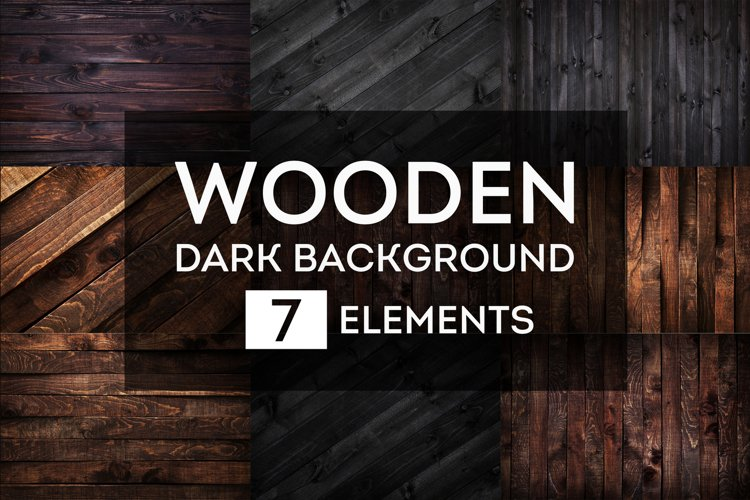 Dark wooden backgrounds bundle