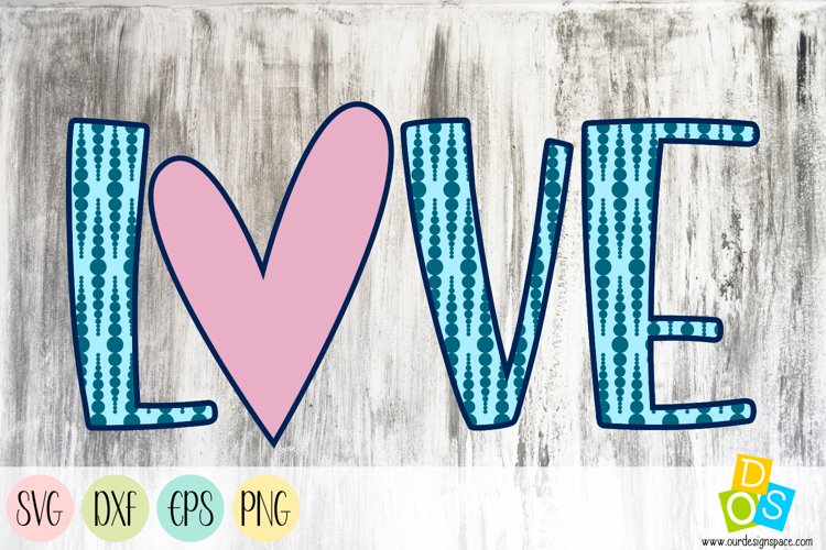 Love 1 SVG, DXF, EPS and PNG file example image 1