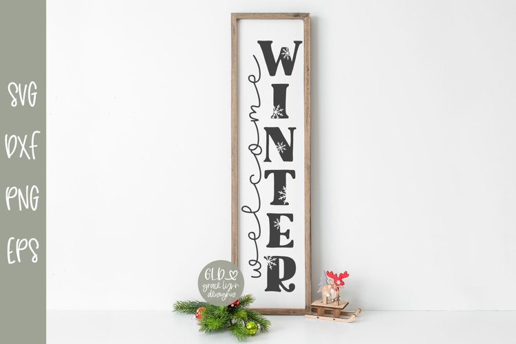 Welcome Winter - Vertical Christmas SVG example image 1