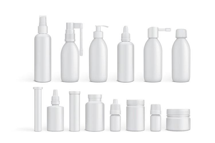 medicine bottles vector EPS10