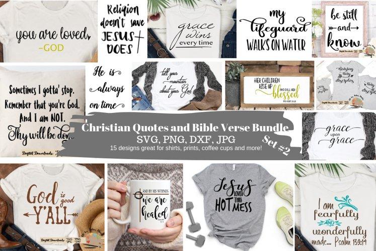 Christian quotes Bundle svg png dxf jpg, Bible verse bundle example image 1
