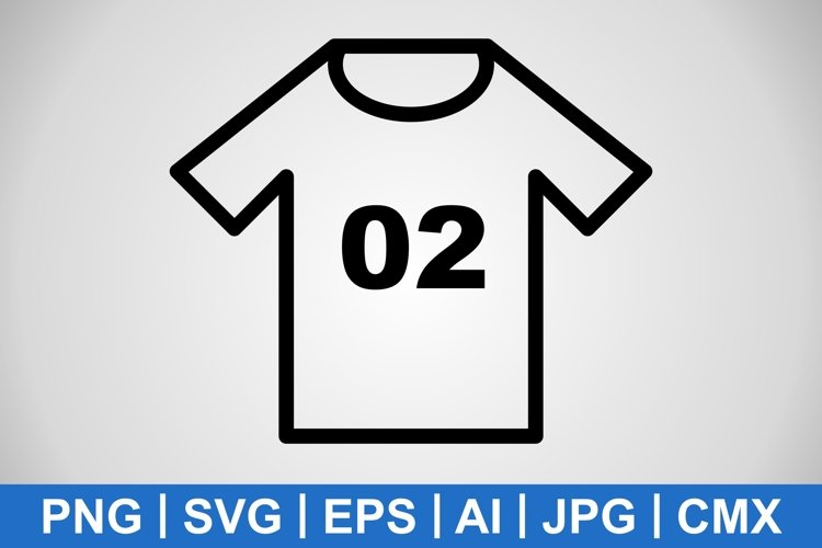 Vector Jersey Icon example image 1