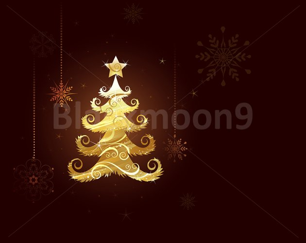 Christmas tree of Gold Foil example image 1