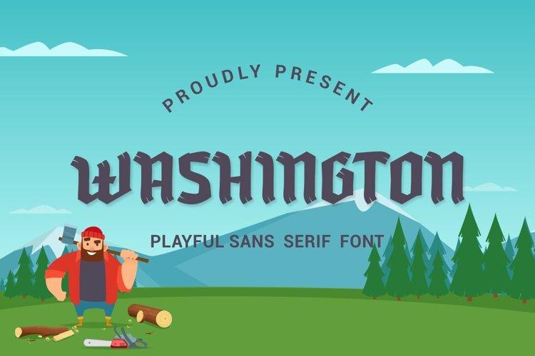 Washington - Playful Sans Serif Font
