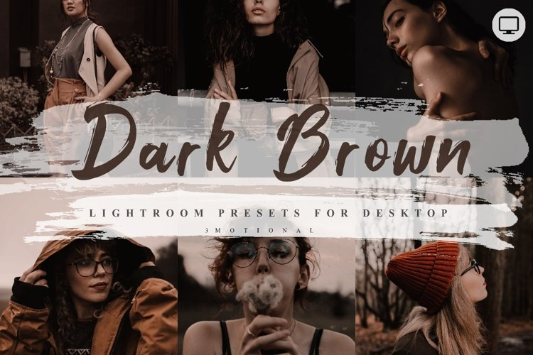 5 Dark Brown Lightroom Presets example image 1