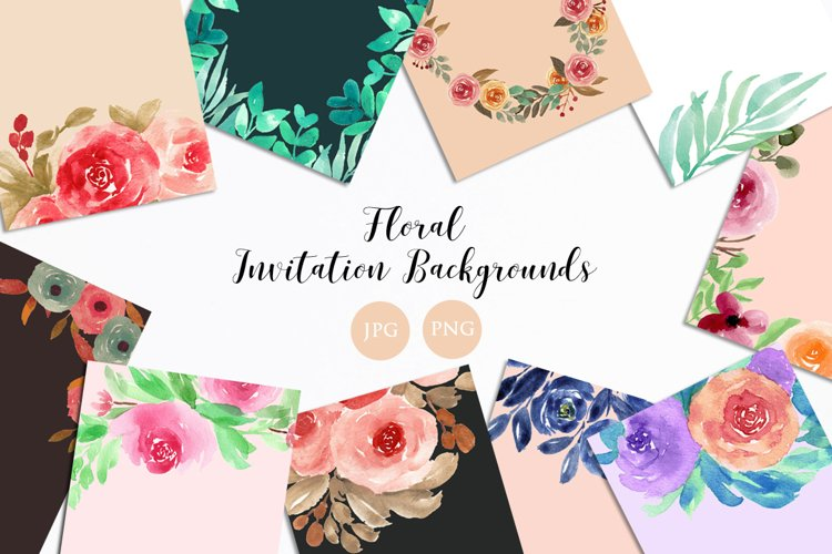 Floral Invitation Backgrounds example image 1