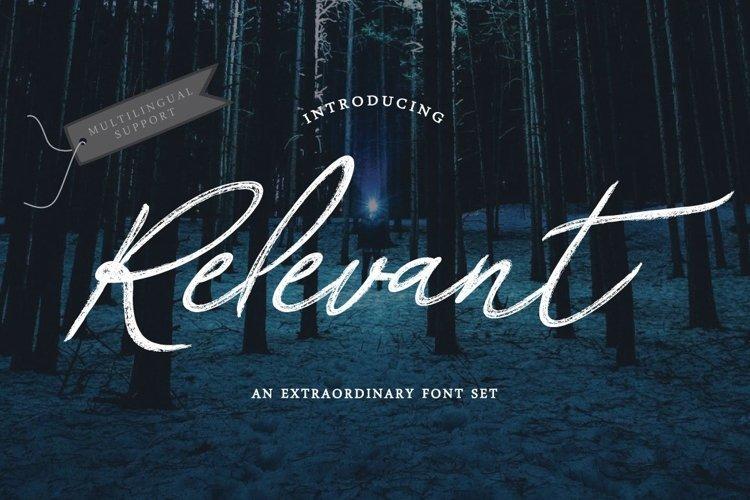 Web Font Relevant Brush Typeface example image 1