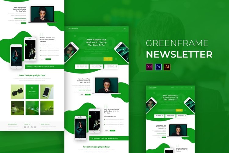 Greenframe | Email Newsletter Template example image 1