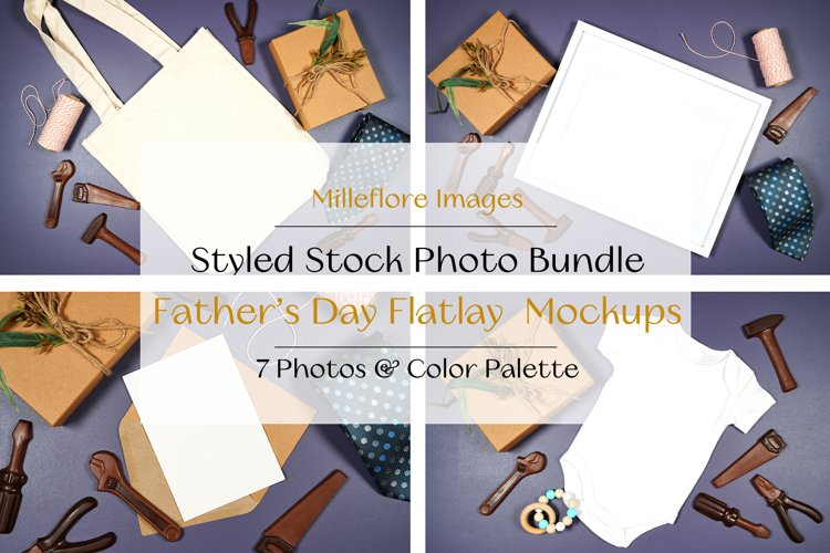 Fathers Day Flatlay SVG Mockups Styled Stock Photo Bundle