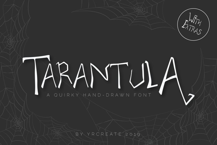 Tarantula | Spooky Creature Display Font example image 1