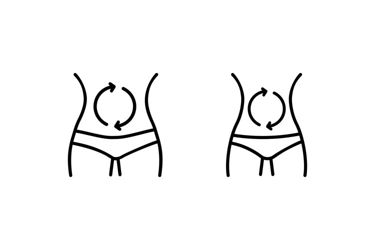 Fast and slow metabolism icon. Vector example image 1