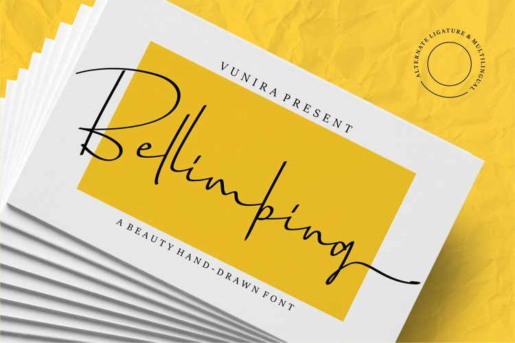 Bellimbing | A Beauty Hand-Drawn Font example image 1