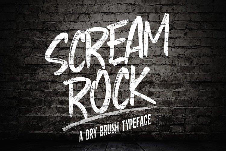 Web Font SCREAM ROCK example image 1