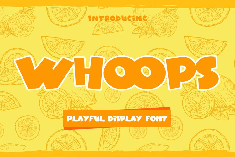 Whoops - Playful Display Font example image 1