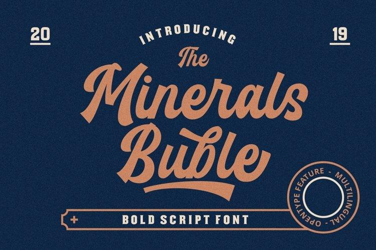 Minerals Buble Bold Script Font example image 1
