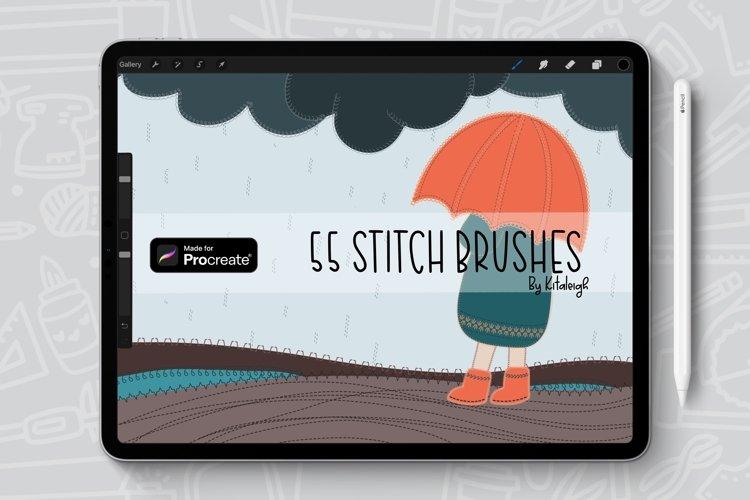 55 Brushes, Stitch Procreate Brush Bundle