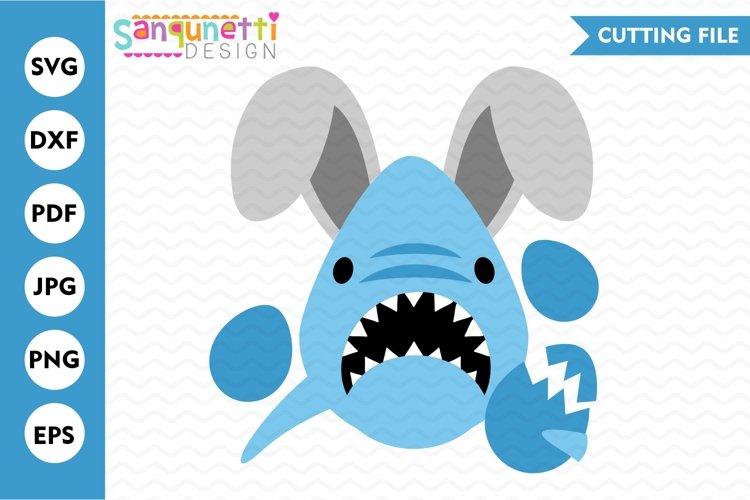 Easter Shark SVG cutting files for boys silhouette or cricut easter eggs svg
