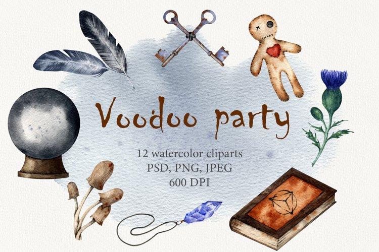 Voodoo party Watercolor set