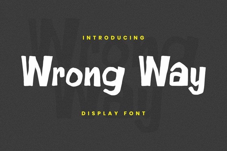 Web Font Wrong Way Font example image 1