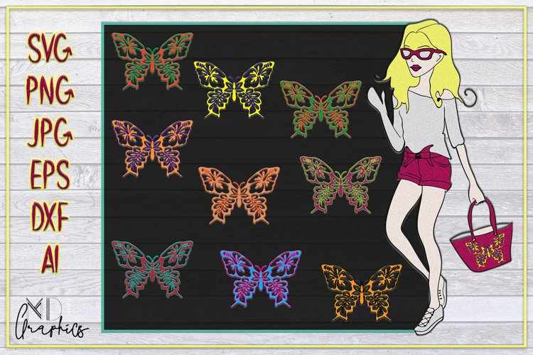 DIGITAL DOWNLOAD IMAGES BUTTERFLIES, SILHOUETTE SVG, PRINTS example image 1