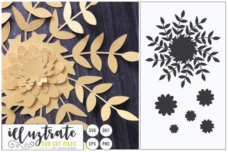 Paper Cut Flowers SVG Cut File - Paper Cutting Bundle DIY - Free Design of The Week Design2
