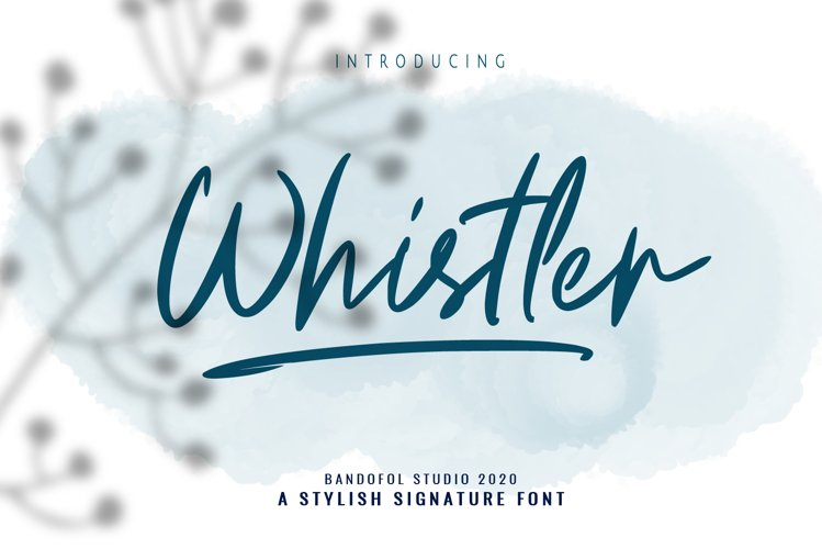 Whistler signature example image 1