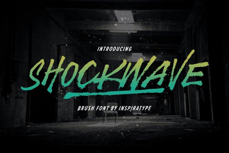 Shockwave - Brush Font example image 1