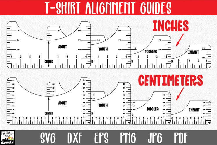 T-Shirt Alignment Guide | Inches and Centimeters Shirt Tool